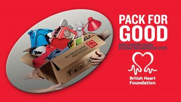 British Heart Foundation pack for good campaign